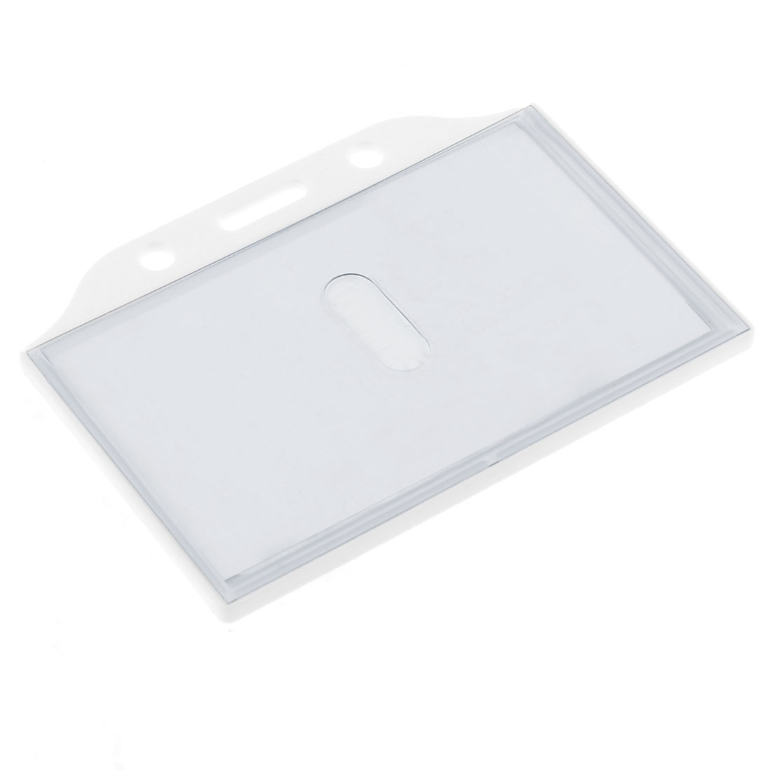 White Plastic Slide Type Office Position Card Holder