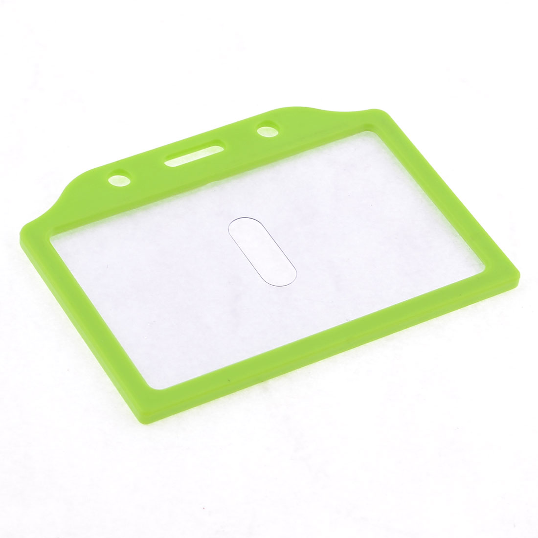 Green Plastic Horizontal Office Staff Slide Card Holder