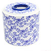 Blue White Porcelain Prints Plastic Round Paper Roll Tissue Box Container Holder