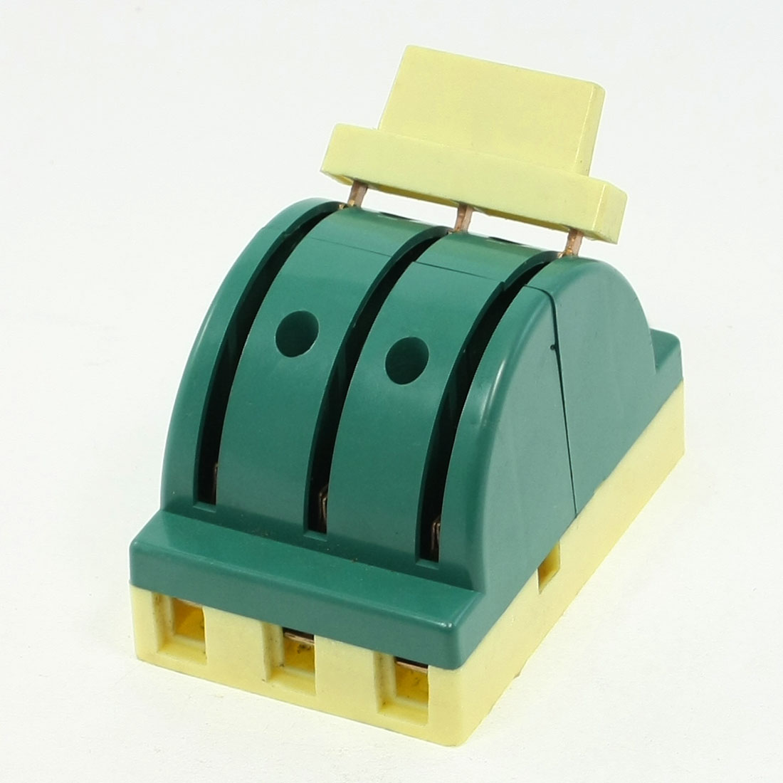 AC 380V 32A 3P Double-sided Circuit Control Closing Disconnect Switch Green