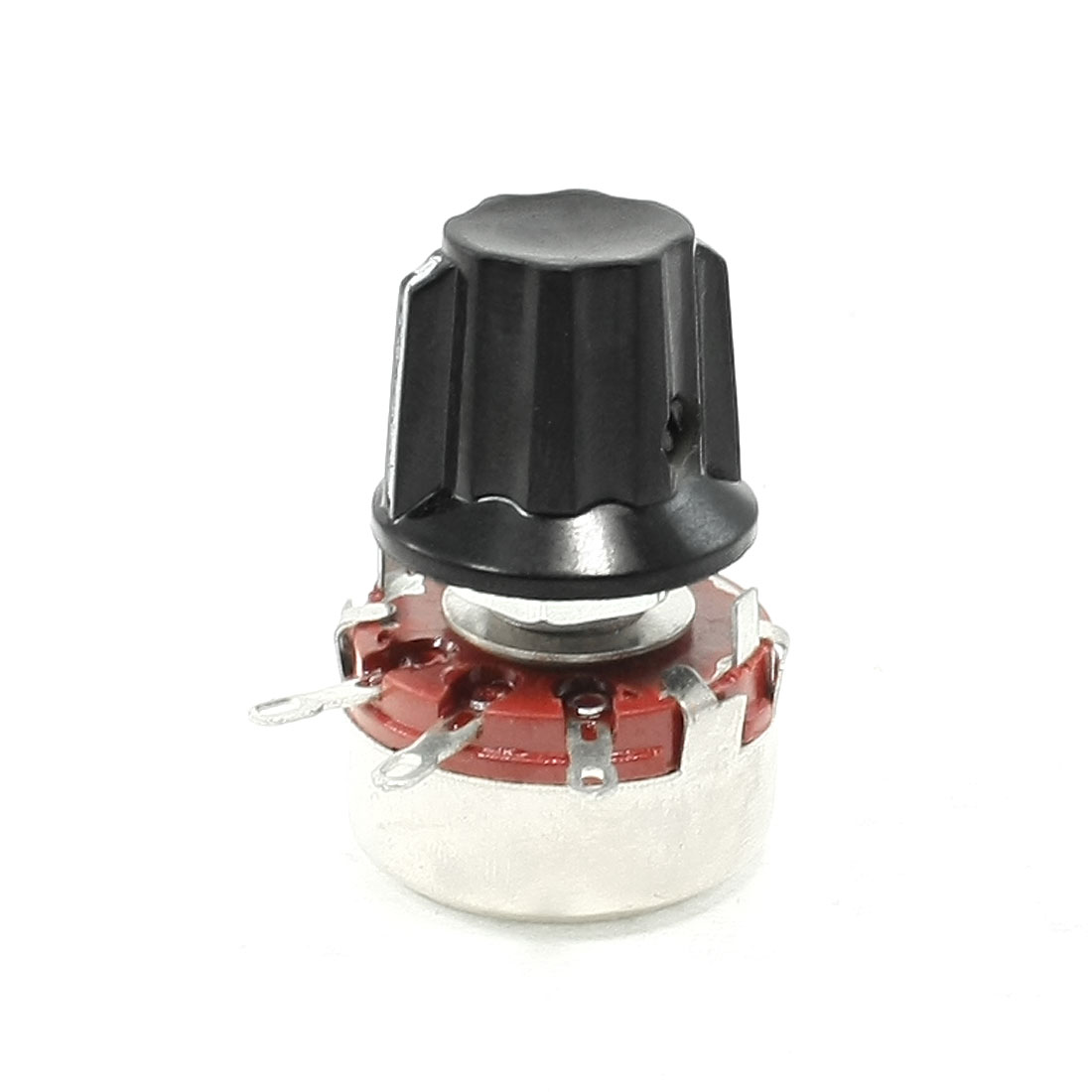 WTH118 22K ohm Single Turn Rotary Linear Taper Carbon Potentiometer Pot w Knob