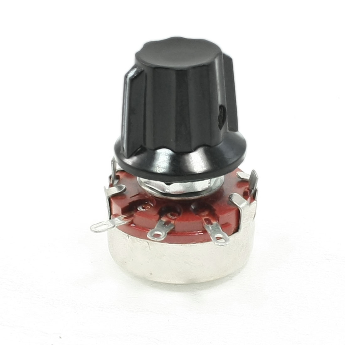 WTH118 2.2K ohm 2W Single Turn Rotary Linear Taper Carbon Potentiometer w Knob
