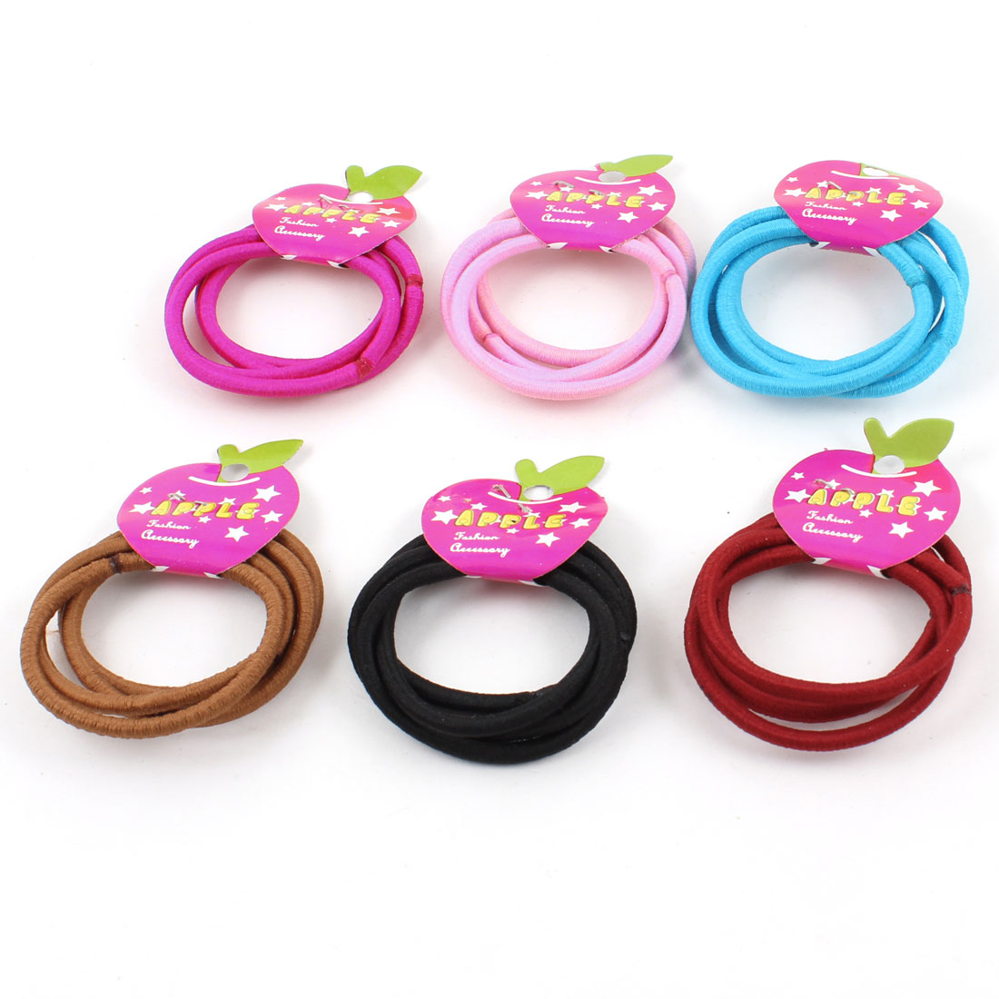 24 Pcs Women Assorted Colors Elastic Ponytail Holders Hair Bands