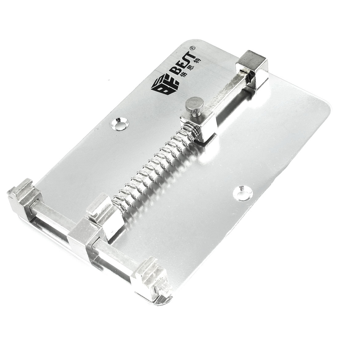 Rectangle Silver Tone Metal PCB Circuit Board Repair Holder for Cell Phone