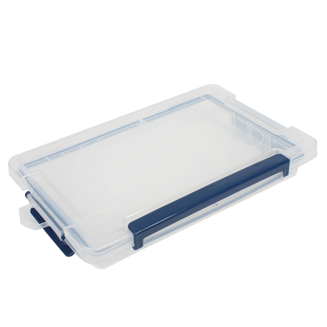 Family 5 Compartments Blue Clear Plastic Screws Thumbtack Storage Case Box
