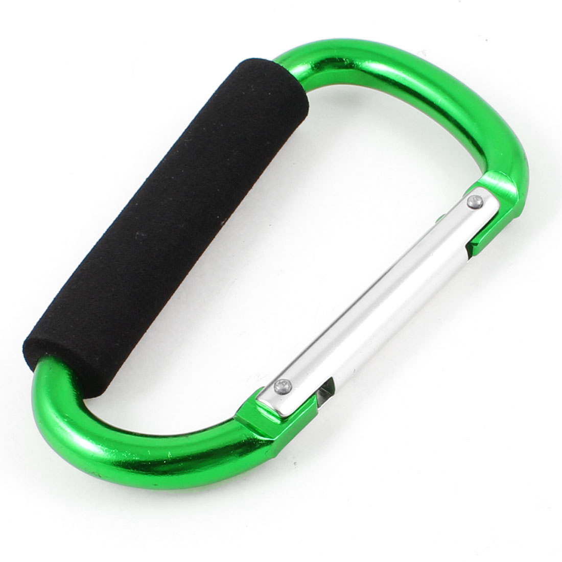 Travel Hiking D Shaped Aluminum Alloy Carabiner Hook Green