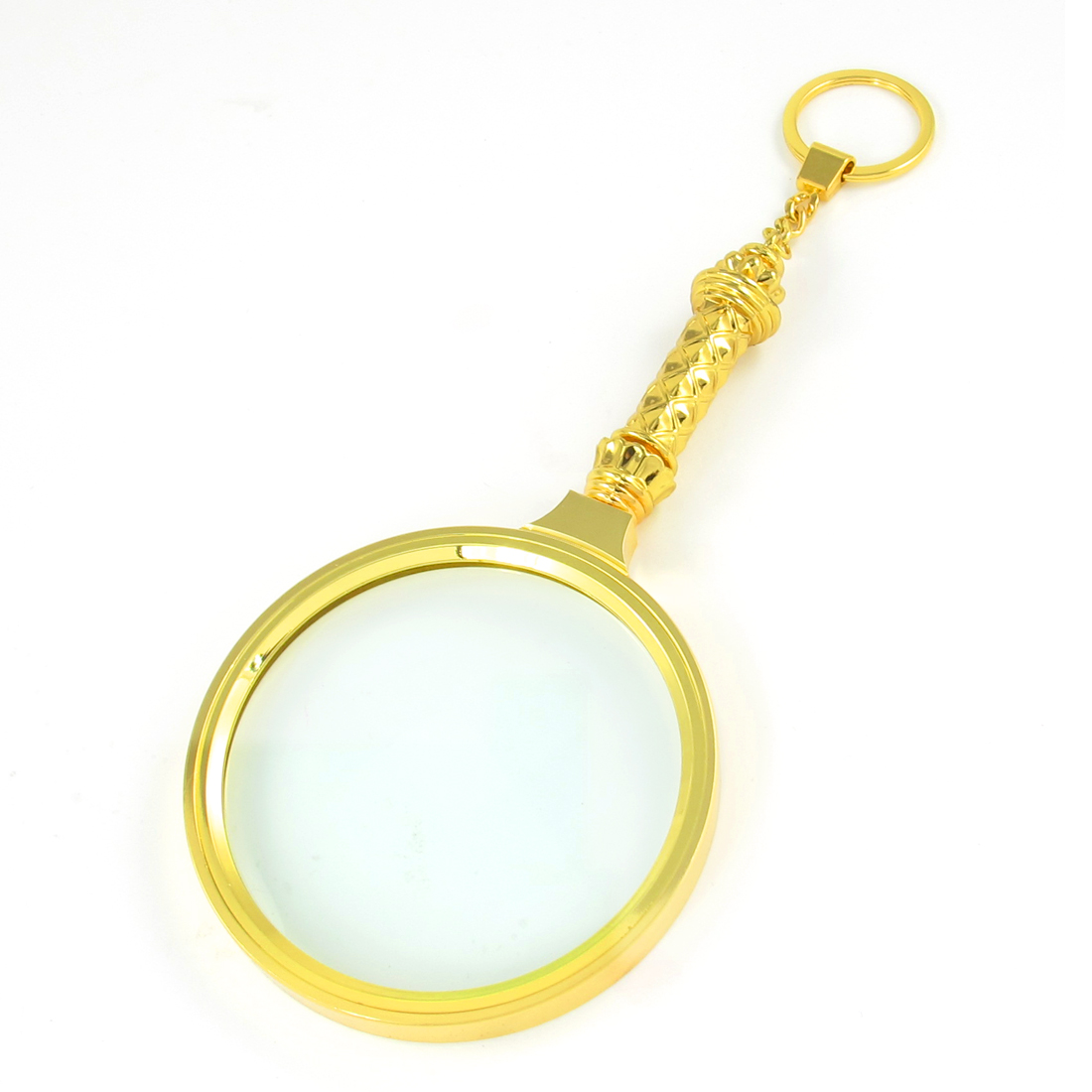 Portable Metal 90mm Dia 3X Lens Magnifying Glass Magnifier