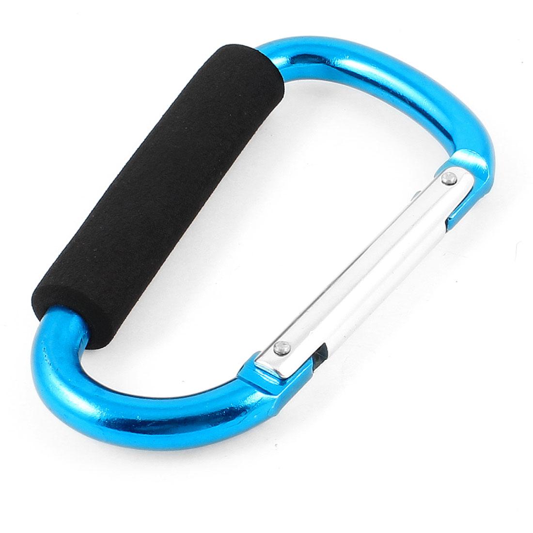 Traveling Foam Coated Aluminum Alloy Clip Hook Carabiner Dodger Blue