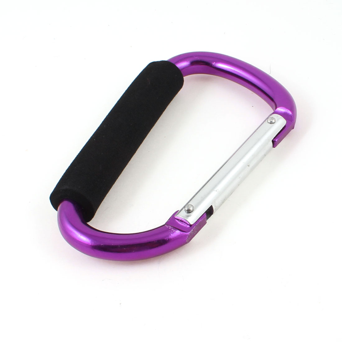 Traveling Foam Coated Aluminum Alloy Clip Hook Carabiner Purple