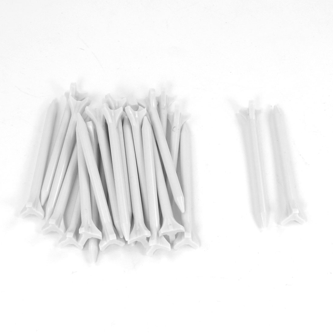 25 Pcs Plastic Triangle Head Zero Friction Golf Tees White