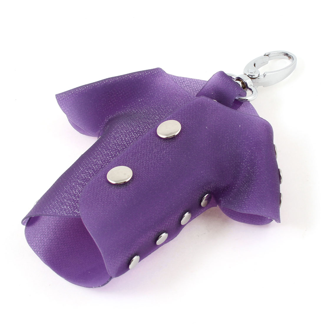 Purple Plastic T Shirt Design Lobster Clasp Keys Holder Case