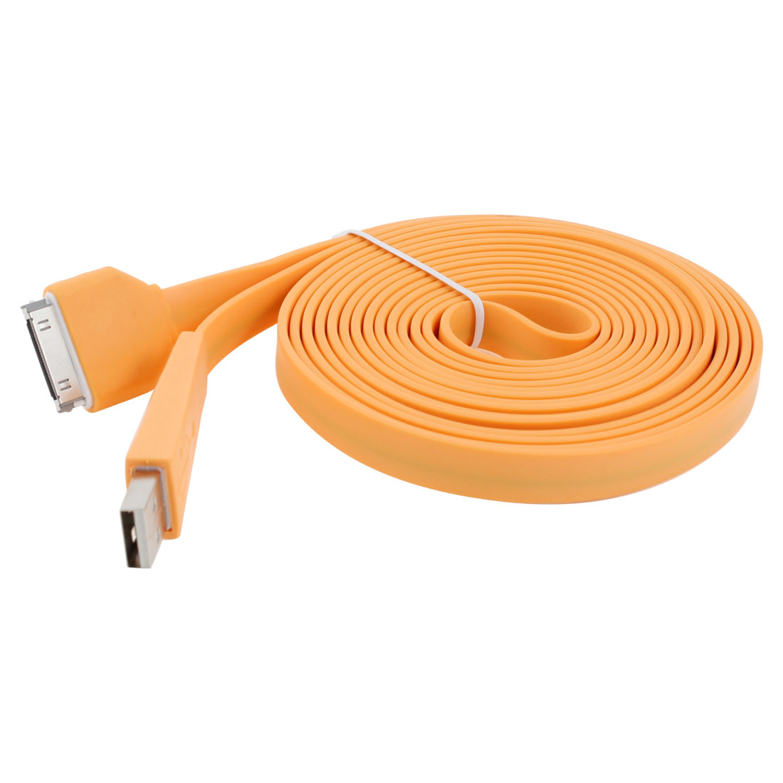 USB Type A to 30 Pin M/M Connector Data Adapter Cable Cord Light Orange