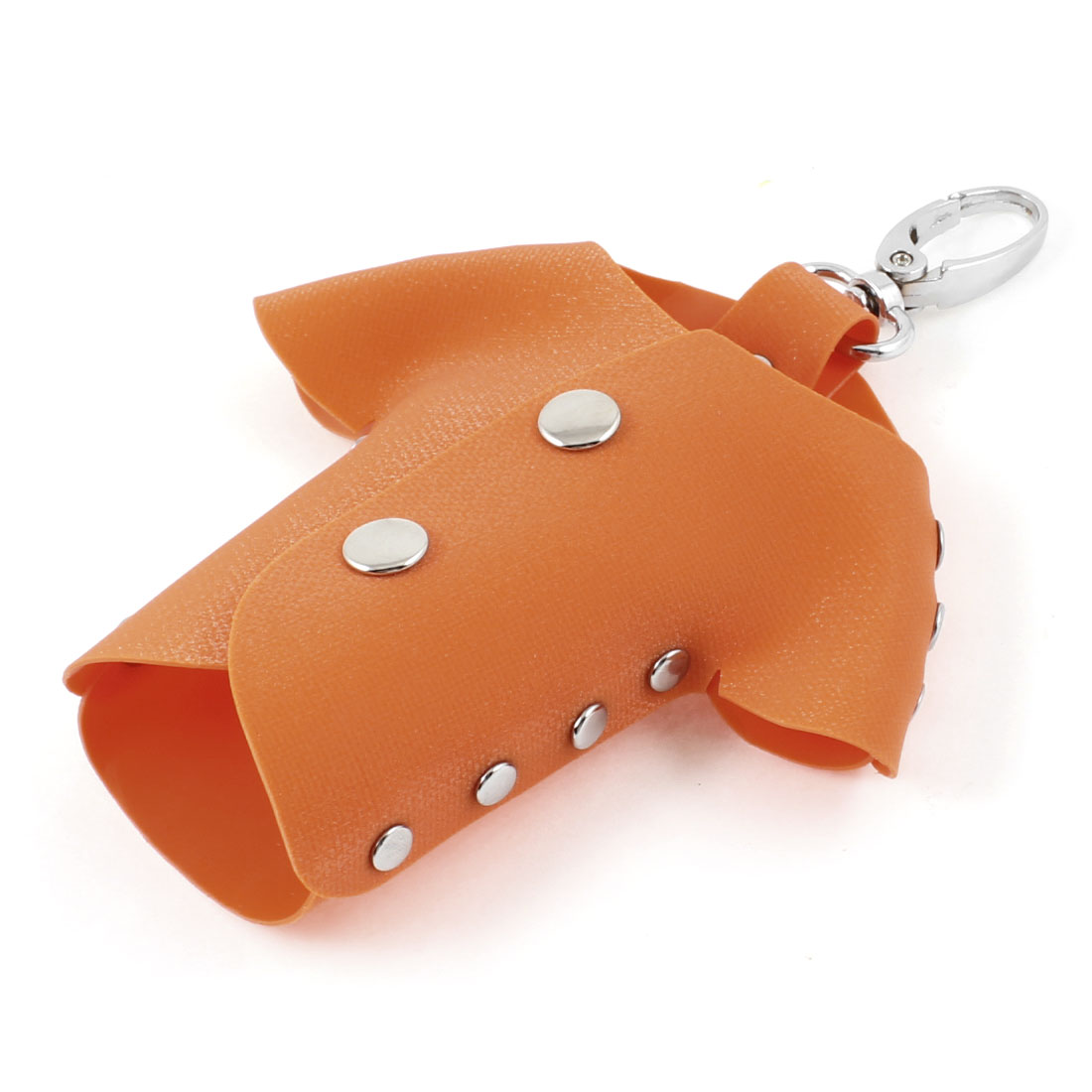Orange Plastic T Shirt Design Lobster Clasp Keys Holder Case