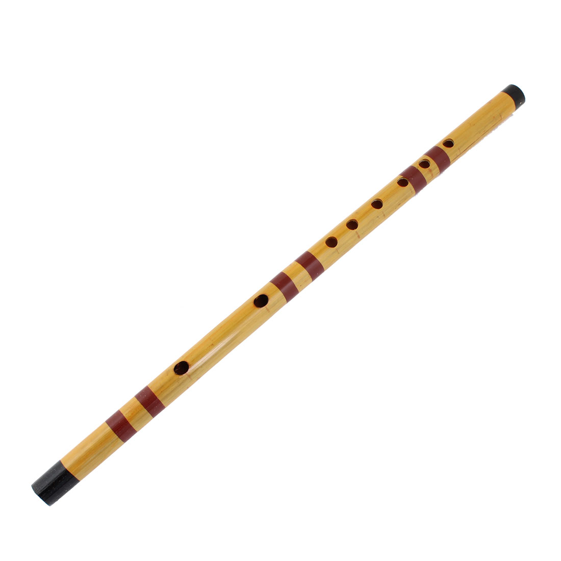 Black Red Light Yellow Alto F Dizi 8 Holes Chinese Bamboo Flute 17.3""