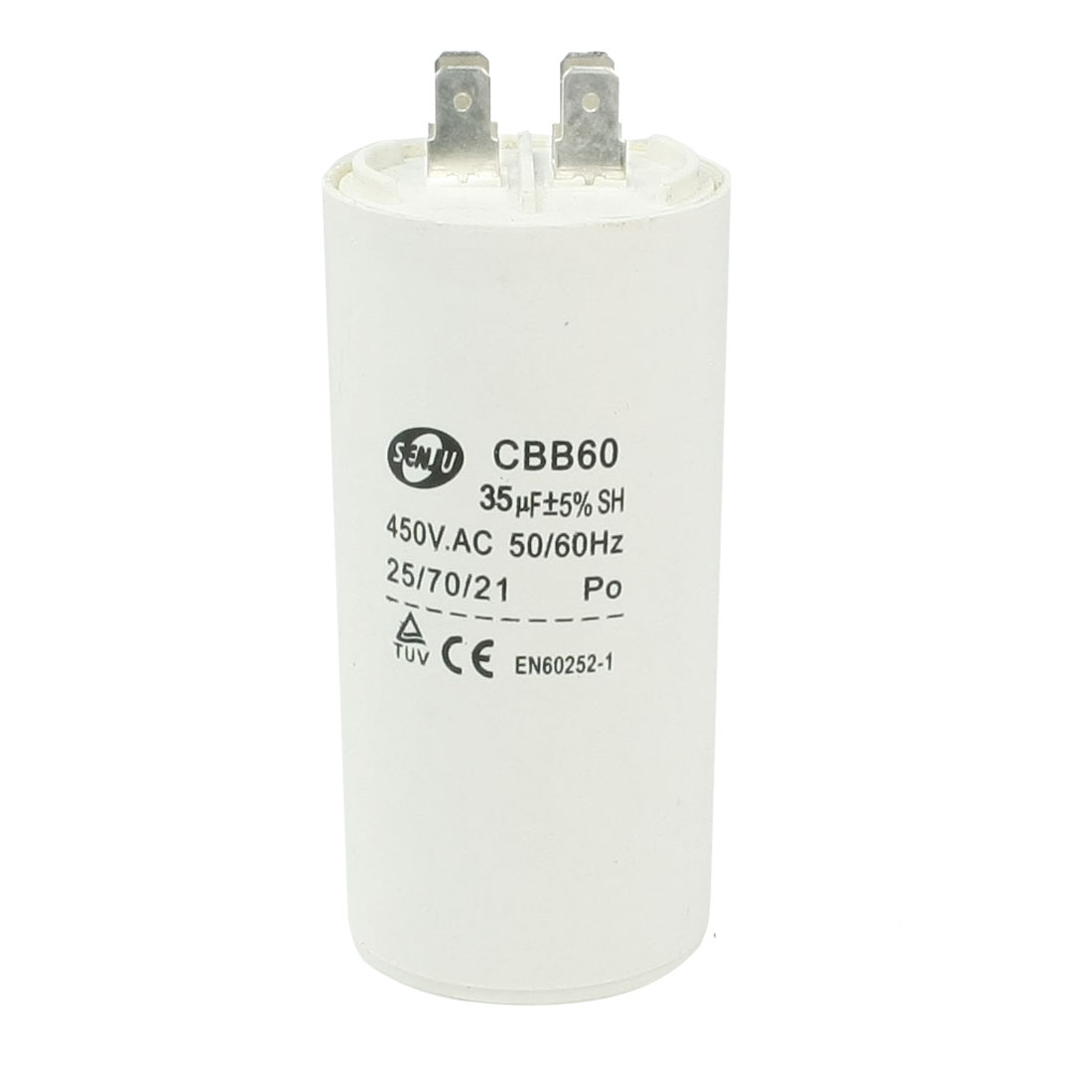 Washing Machine Non Polar Motor Capacitor White 35uF AC 450V