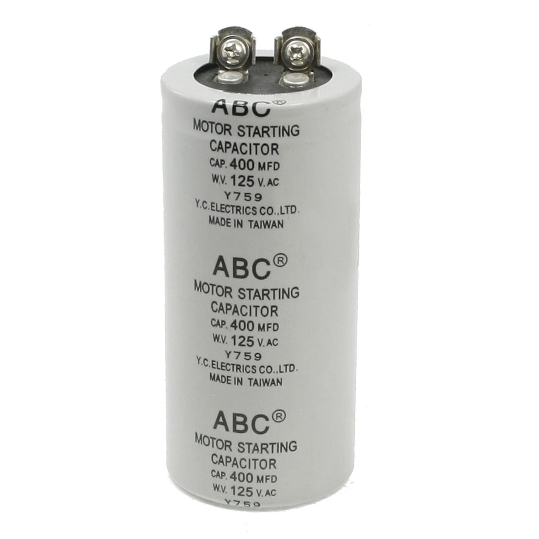 Capacitance Round Polypropylene Film Capacitor AC 125V 400UF