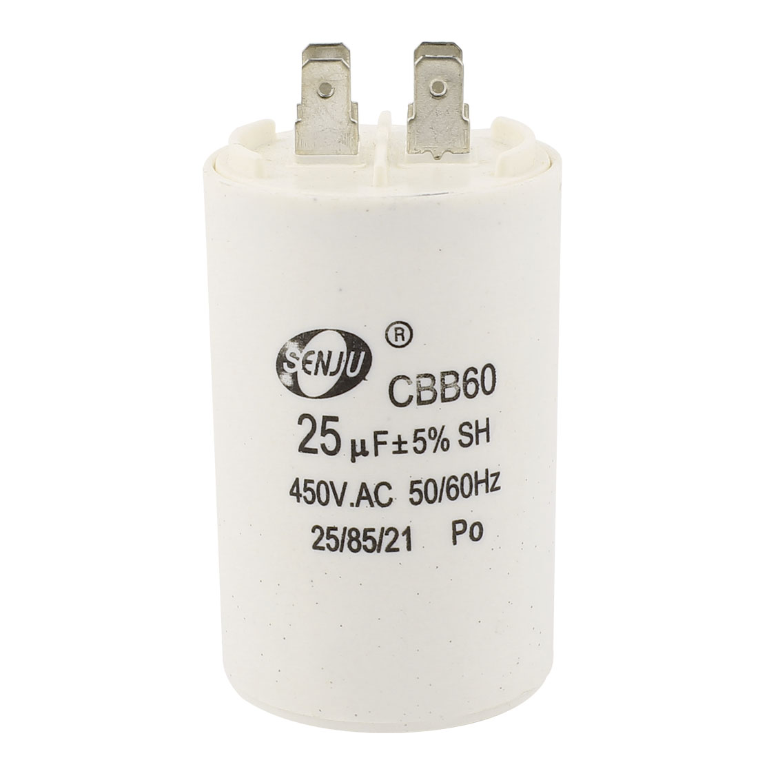 CBB60 25uF 450VAC Polypropylene Film AC Motor Run Capacitor for Washing Machine