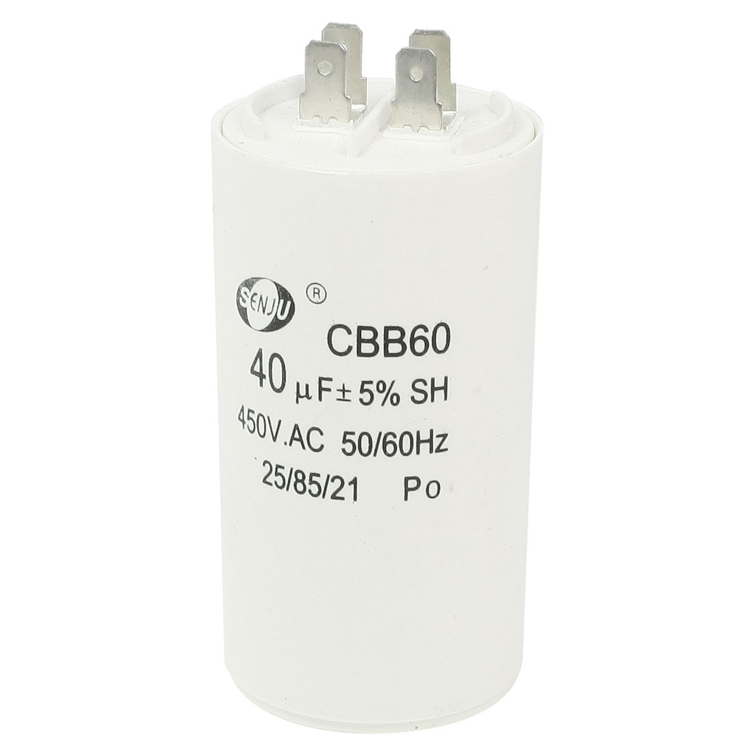 Washing Machine CBB60 Nonpolar Motor Running Capacitor AC 450V 40uF 50/60Hz