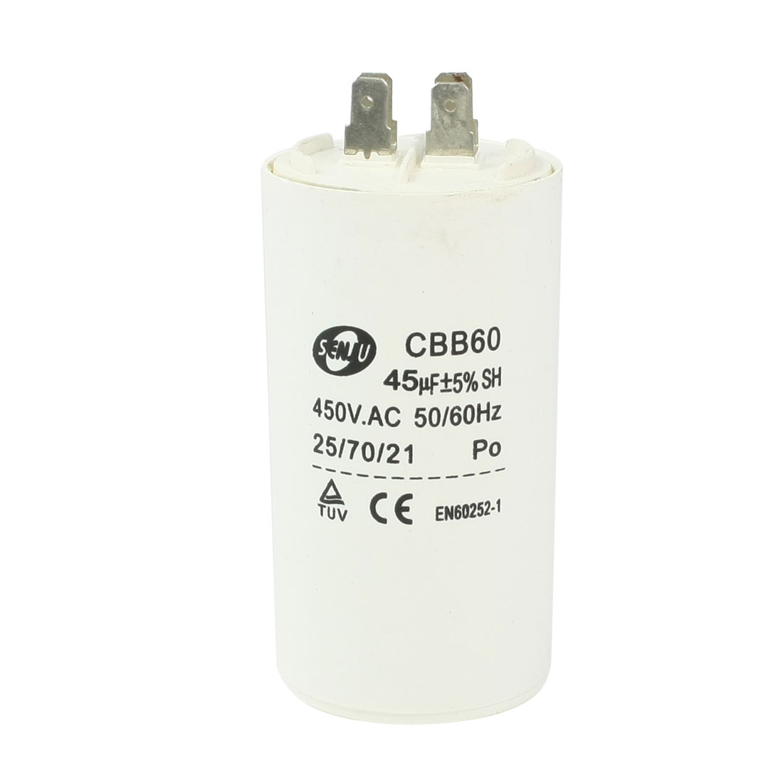 CBB60 45uF 450VAC Polypropylene Film AC Motor Run Capacitor for Washing Machine