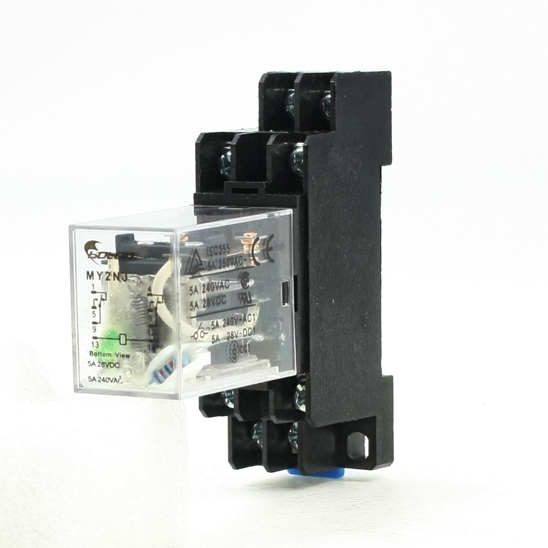 MY2NJ 24V DC Coil General Purpose Power Relay 8Pin 5A 240VAC/28VDC w Socket