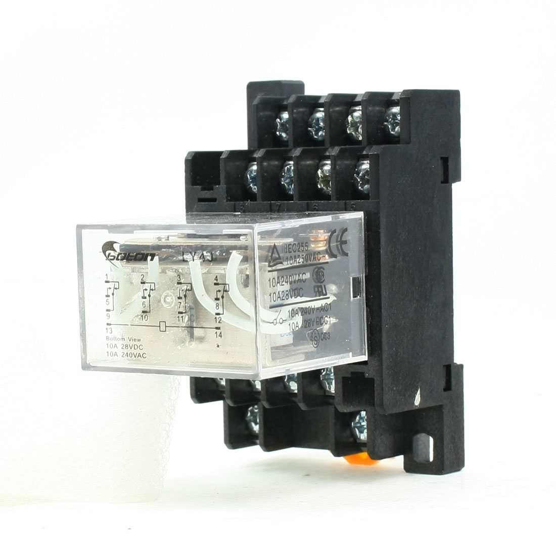 24V DC Coil 3PDT Electromagnetic Power Relay LY3J 5A 250VAC/28VDC w Base