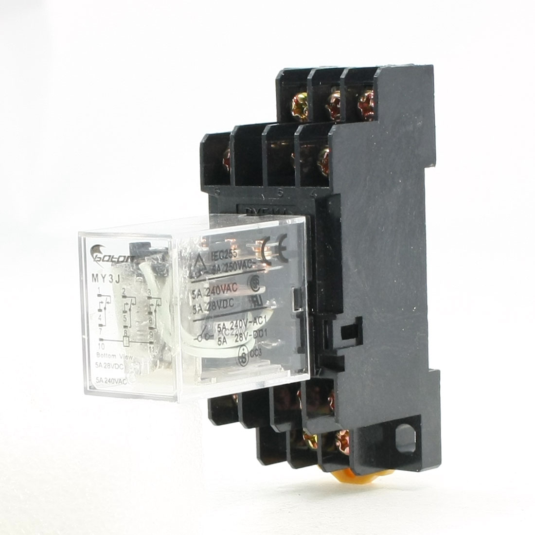 AC 220V Coil 3PDT 11P 11Pins General Purpose Power Relay 5A 250VAC/28VDC w Base