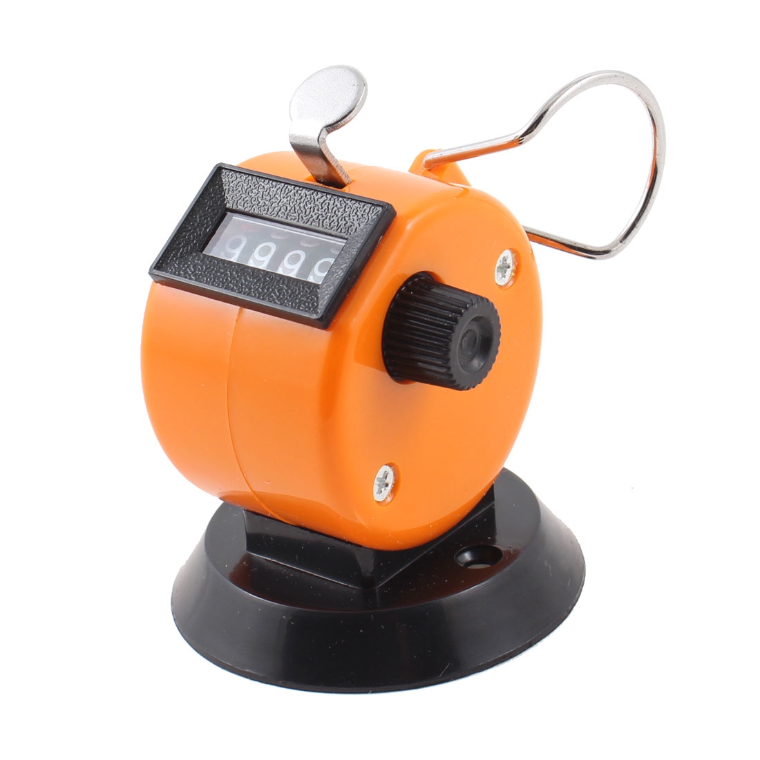 Black Orange Plastic 4 Digits Table Desk Tally Counter