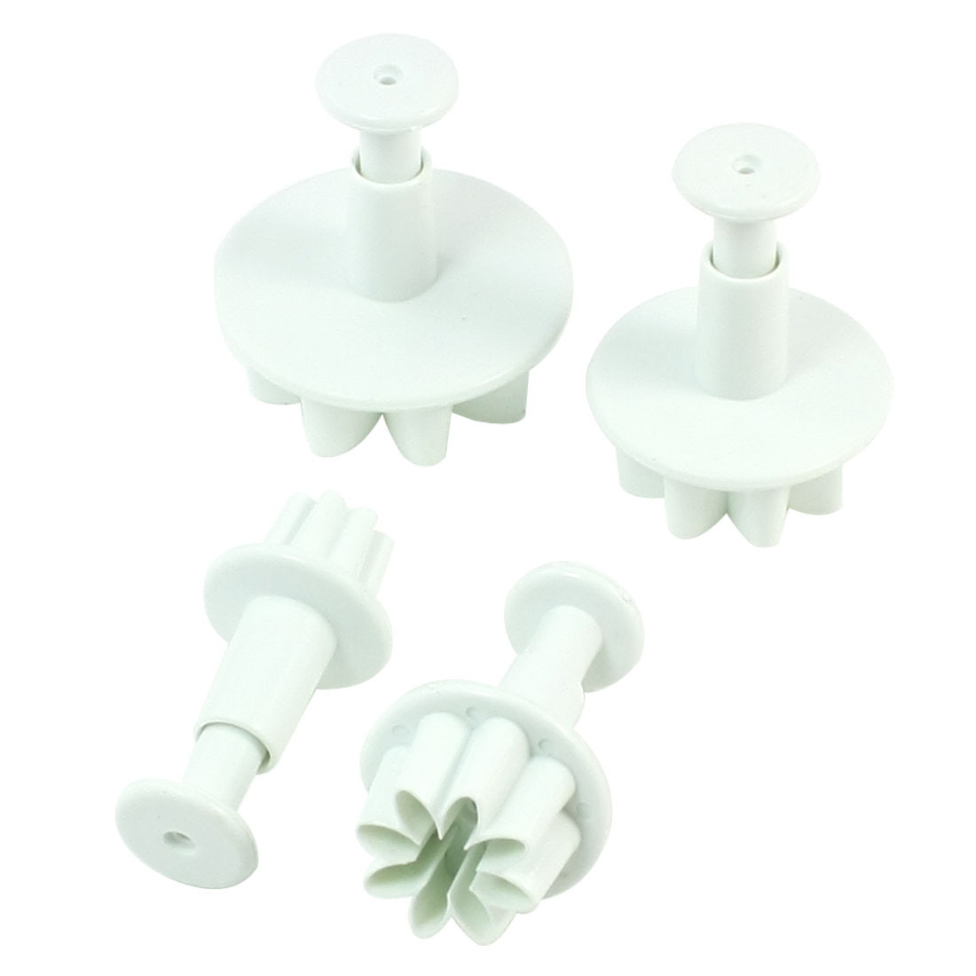 4 Pcs Daisy Design Spring Loaded Cutter Plunger for Cake Cookie Molding
