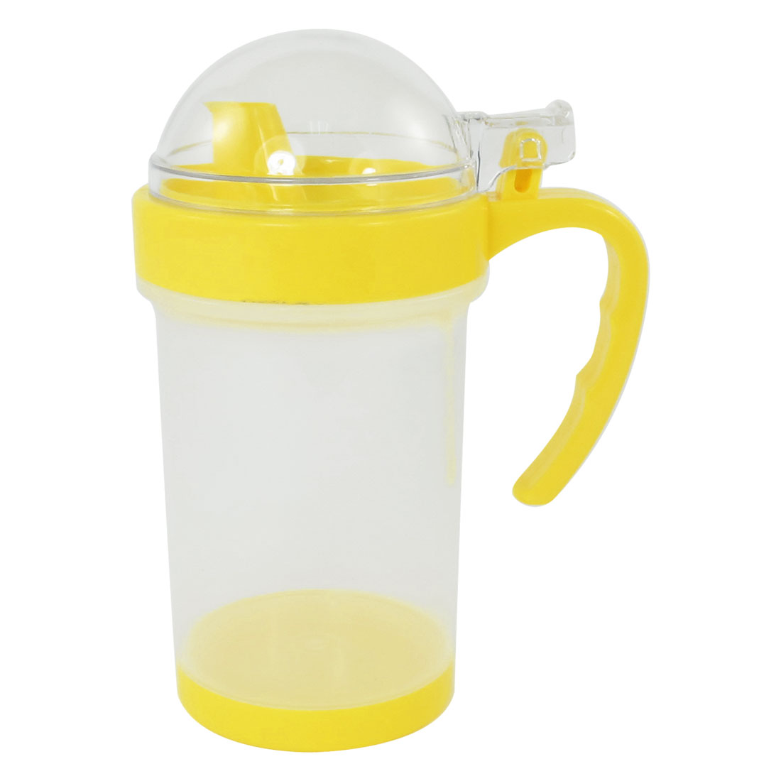 380ml Capacity Yellow Clear Plastic Oil Pot Soy Sauce Kettle