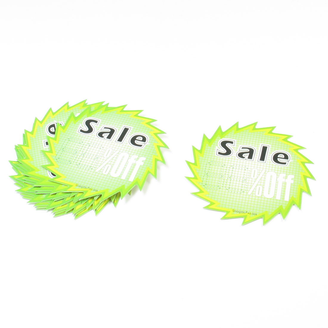 Retailing Shops Off Sale Printed Promotional Price Tags POP Cards 10 Pcs
