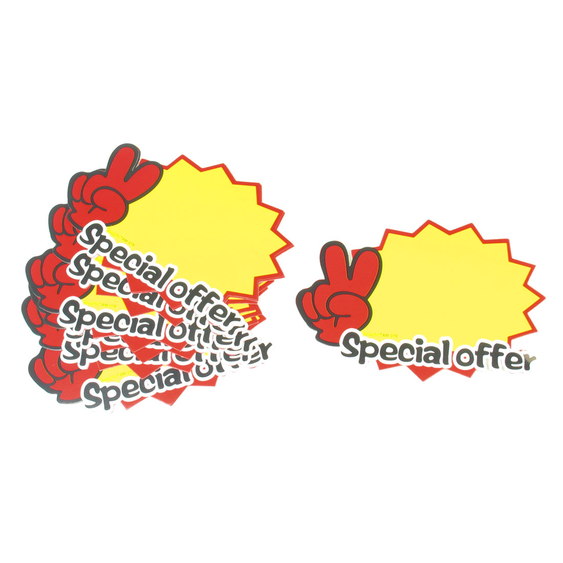 10pcs Retailing Stores Special Offer Prints Promotional Price Tags POP Cards