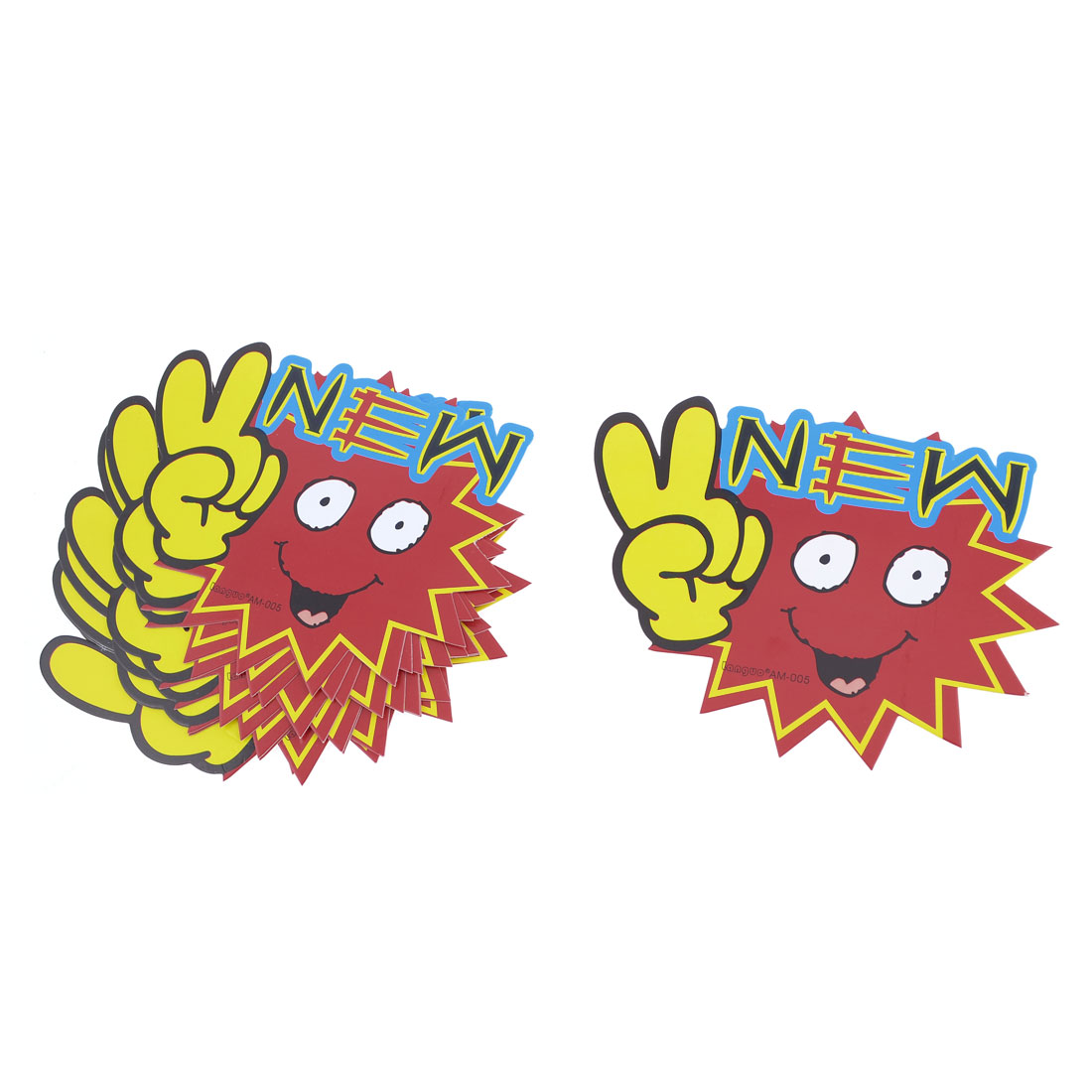 10pcs New Pattern Victory Gesture Promotional Price Tags POP Cards Red Yellow