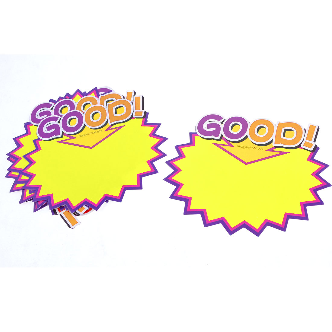10 Pcs Store Good! Arrow Pattern Promotional Price Tags POP Cards Purple Yellow
