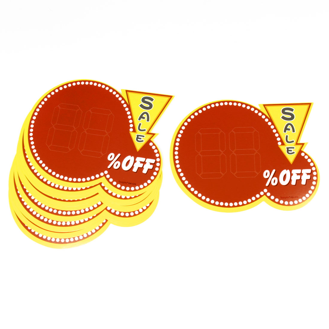Shops 0.88 Off Sale Pattern Product Promotion Paper Price Tags Red Yellow 10 Pcs