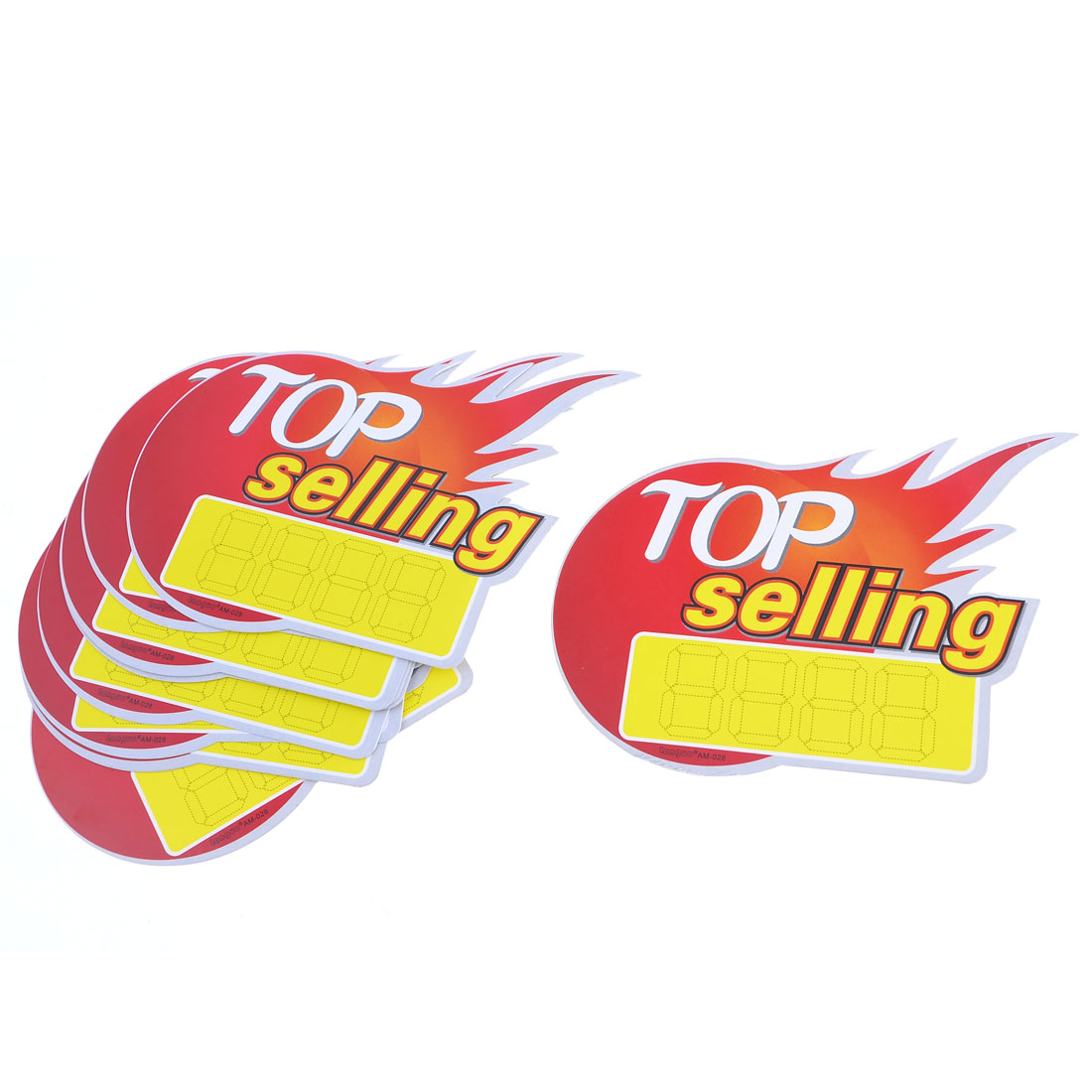 10 Pcs Orange Red Flame Design Advertising Promotional Paper POP Price Tag Cards