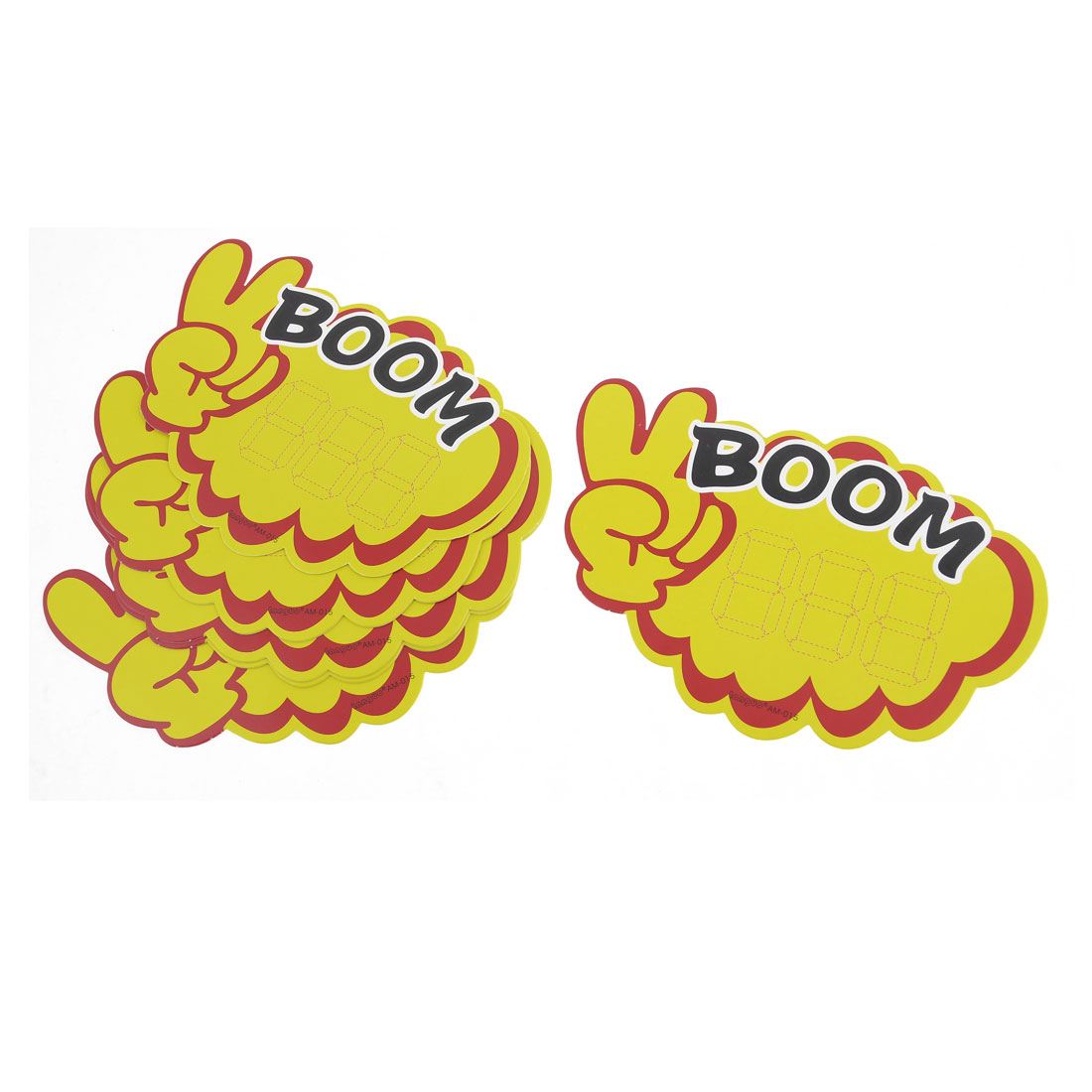 10 Pcs Stores Boom Pattern Victory Gesture Pop Price Tags Sale Cards Yellow Red