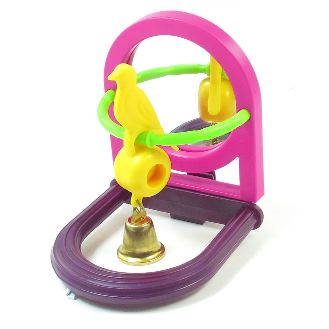 Entertained Mirror Plastic Swing Hanging Bell Artificial Funny Toys for Birds
