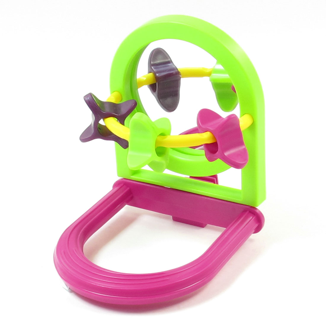 Mirror Plastic Small Whell Entertained Funny Toys Green Fuchsia for Birds