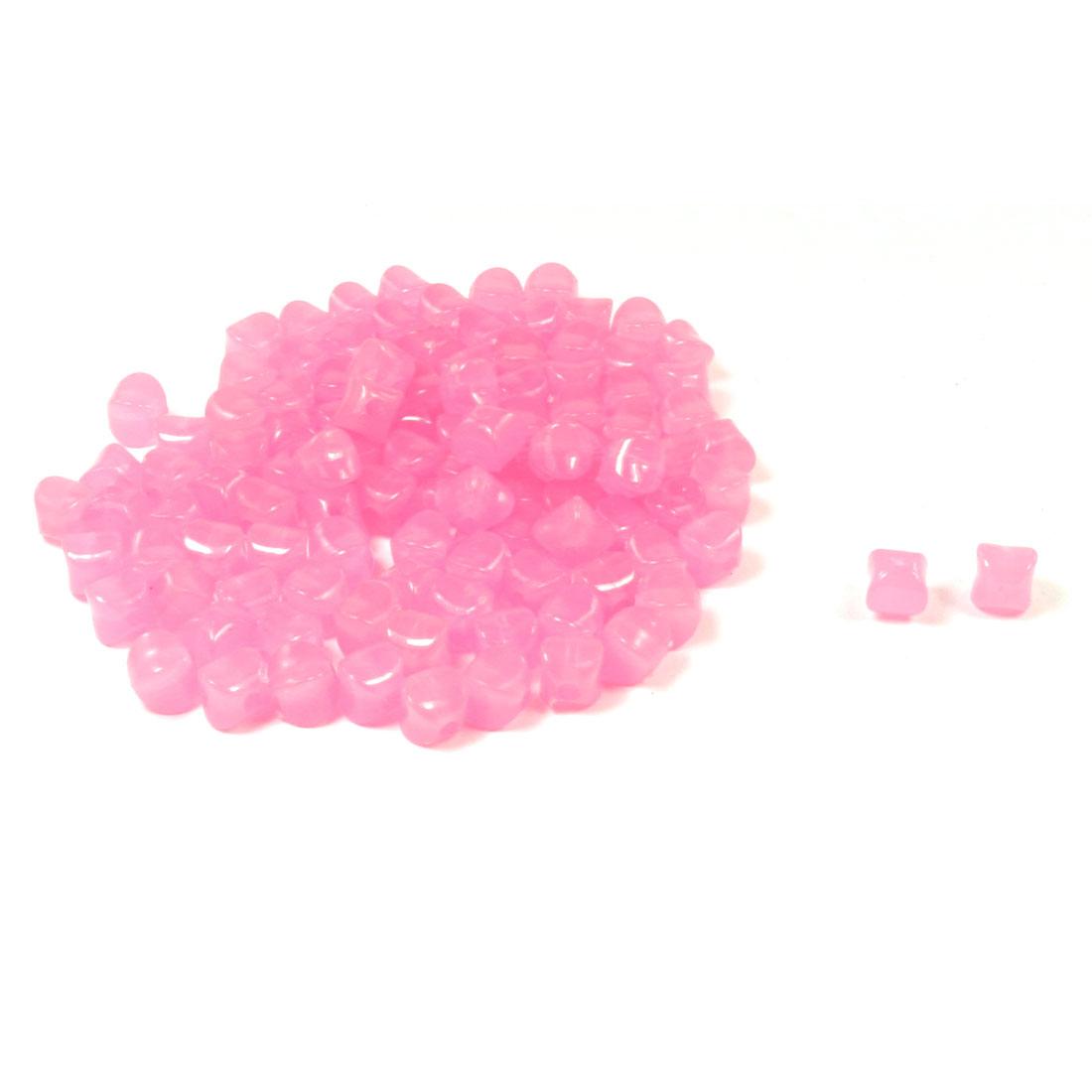 108 Pcs Necklace Bracelet Pink Plastic Star Shaped Jelly Beads