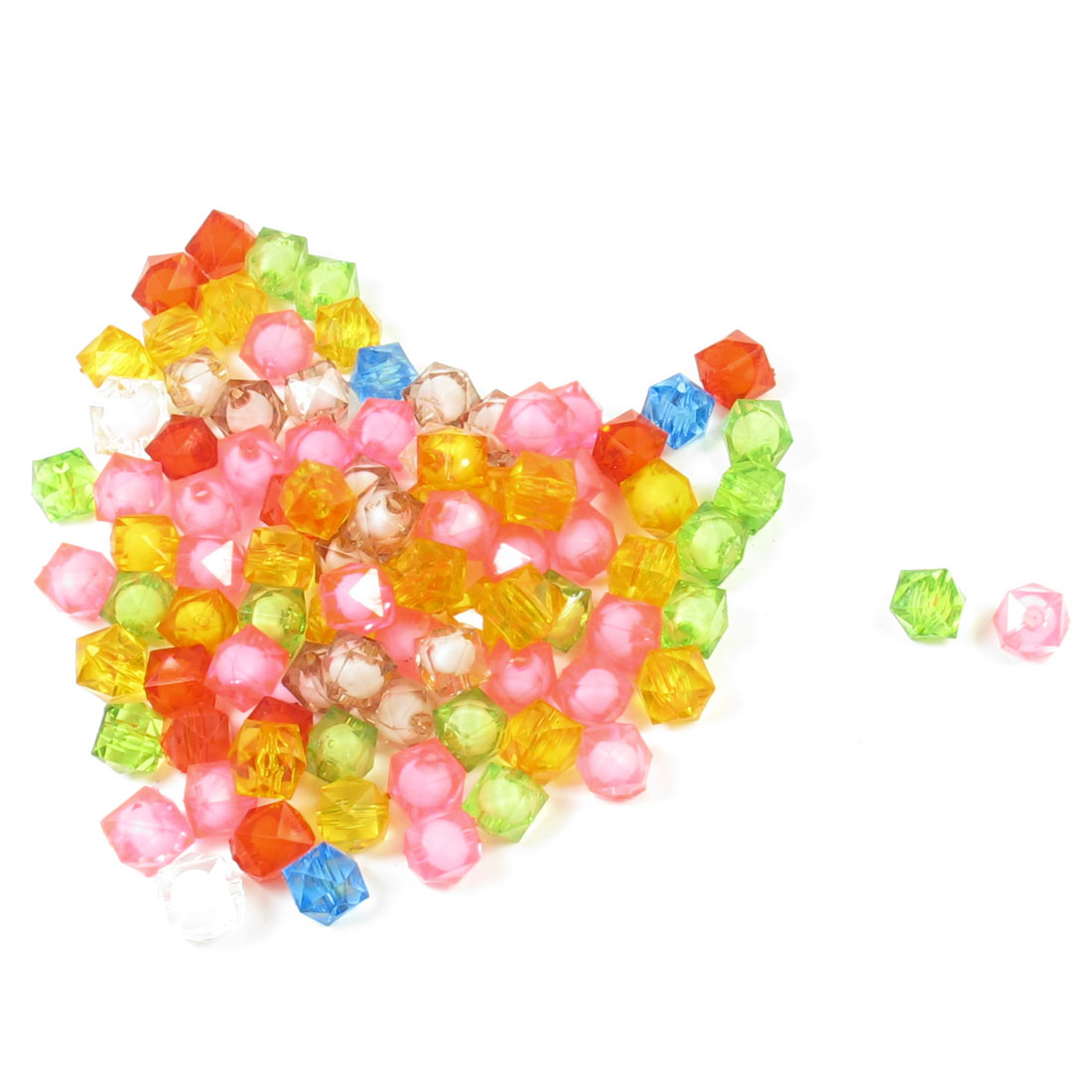 93 Pcs Jewelry Findings Faceted Plastic Beads Colorful w Hole