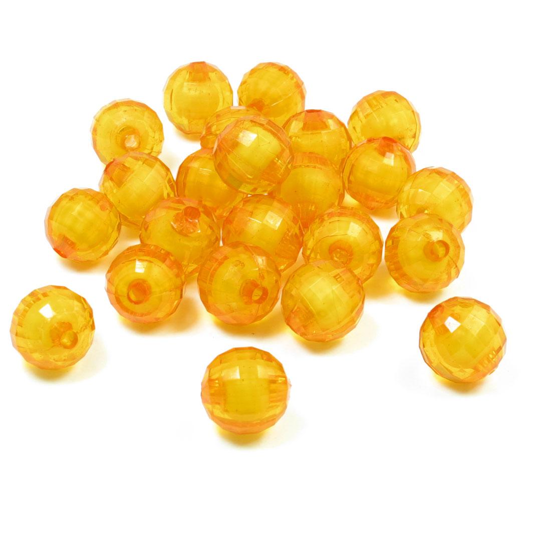 23 Pcs Handcraft Bracelet Globe Design Orange Faux Crystal Beads