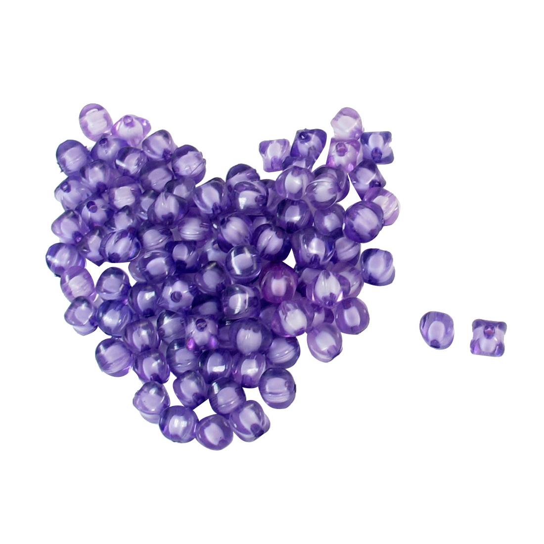 95 Pcs Bracelets Necklace Purple Plastic Square Shaped Beads Accent w Hole