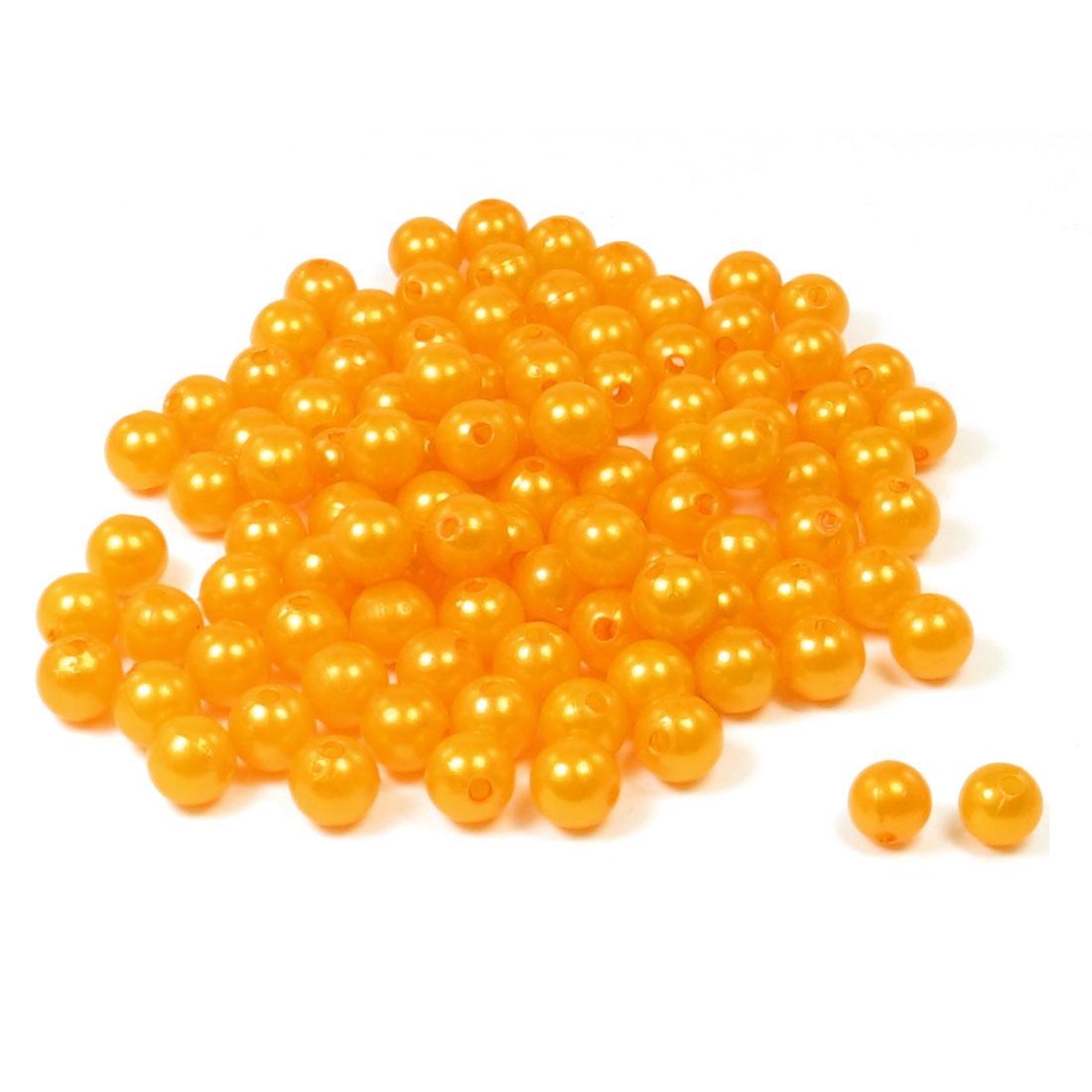 DIY Necklace Jewelry Orange Plastic Beads 100 Pieces