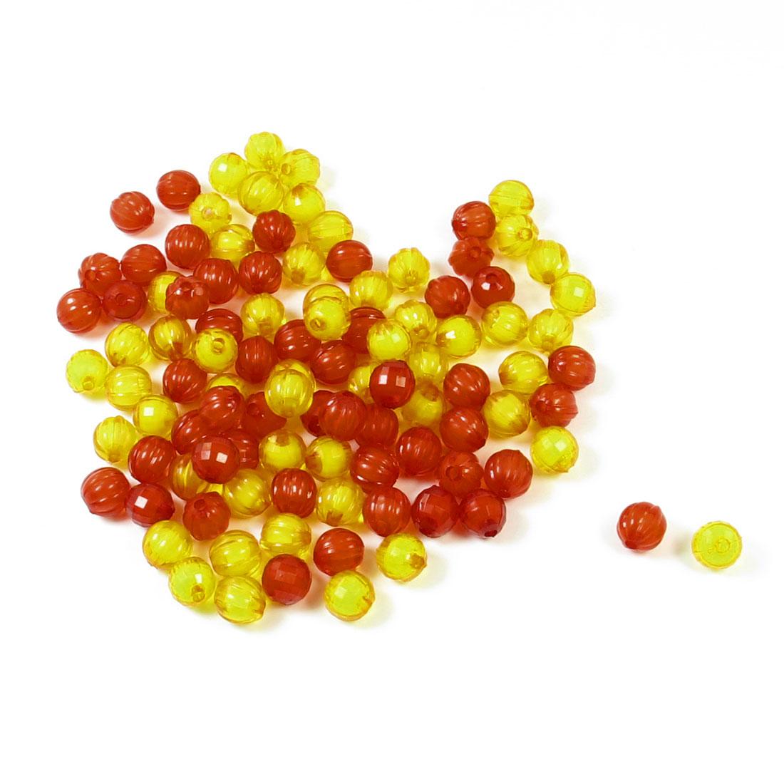 87 Pcs Orange Red Pumpink Shaped Plastic Beads for Craft Bangle Bracelet