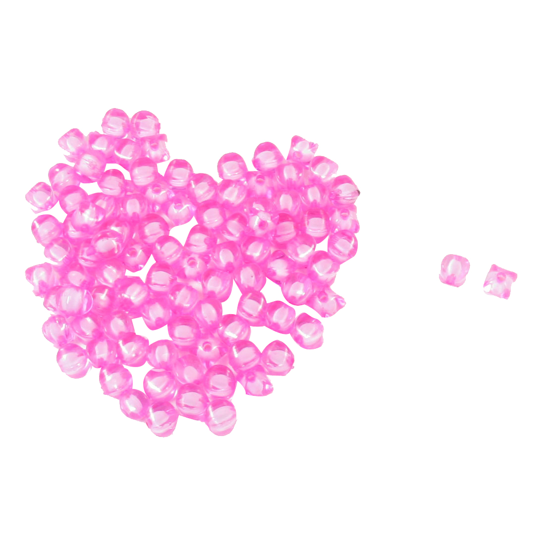93 Pcs Jewelry Findings DIY Fuchsia Plastic Square Shaped Beads