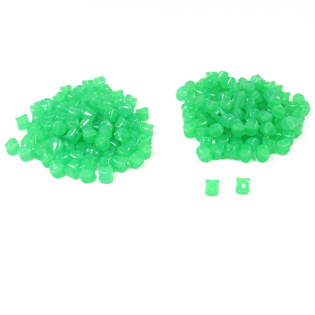Jewelry Findings Green Plastic Star Design Jelly Beads 190 Pcs