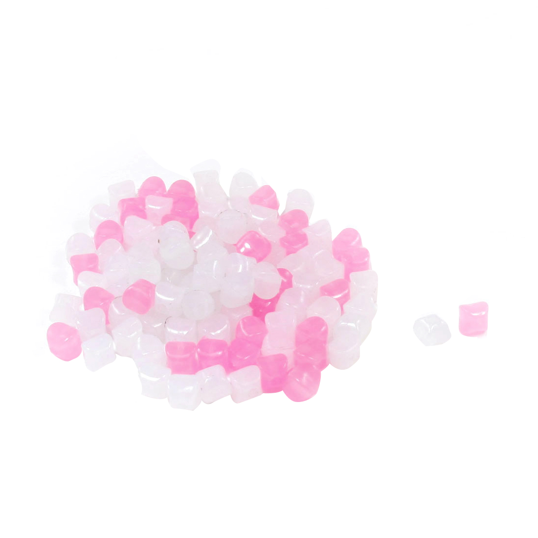 100 Pcs DIY White Pink Plastic 10mm Star Shape Jelly Beads