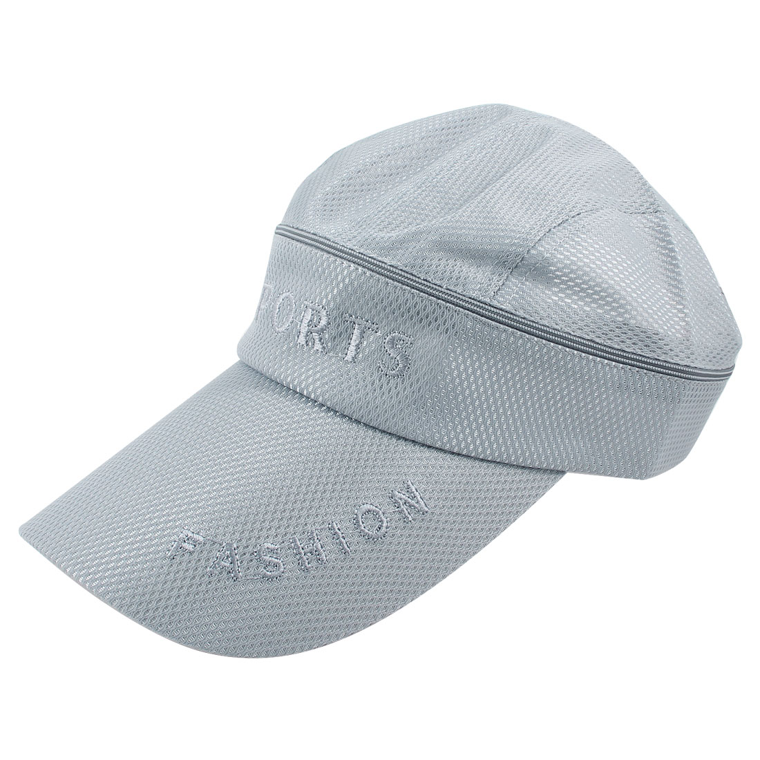 Gray Top Detachable Design Letter Printed Outdoor Sun Visor Cap Hat for Man