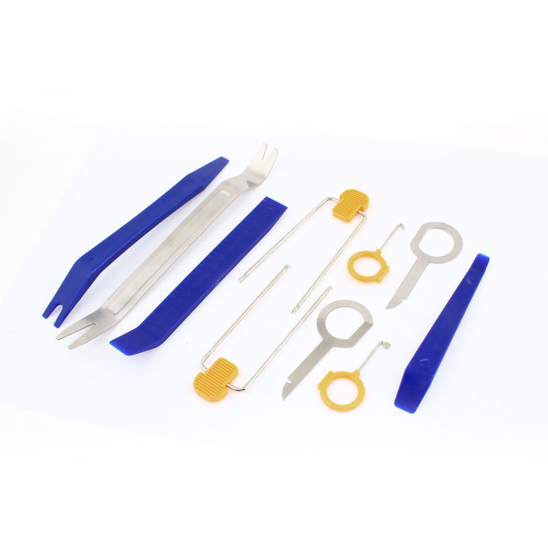 10 Pcs Car Vehicle Door Panel Audio Removal Installer Dismantle Tool Blue Yellow