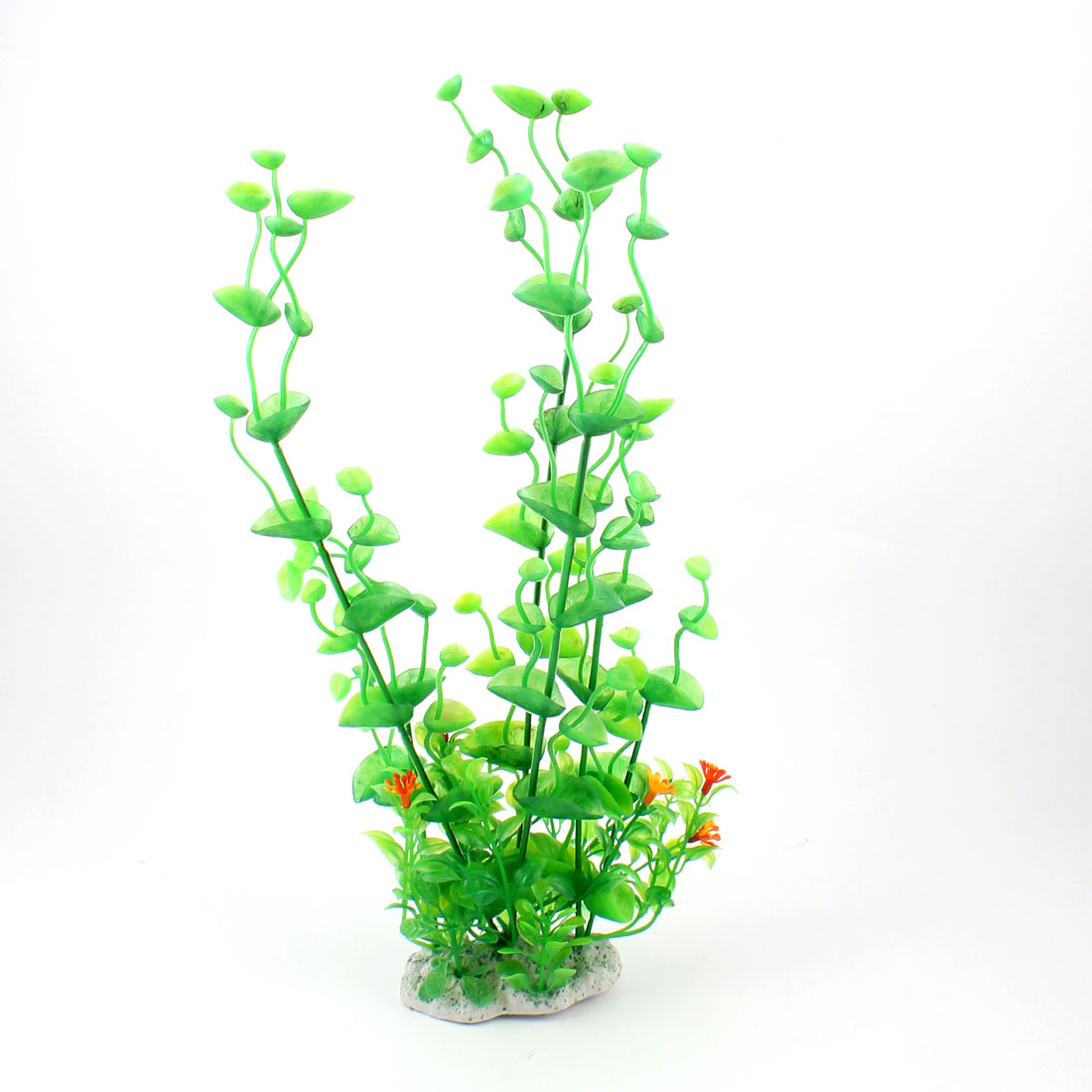 "13"" Height Green Plastic Grass Plant Adorning Fish Aquarium Landscape"